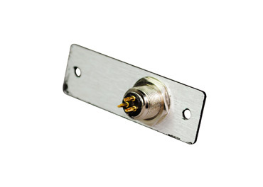 Mini XLR 3-pin Male to Solder Cups, single plate, AV8010BK