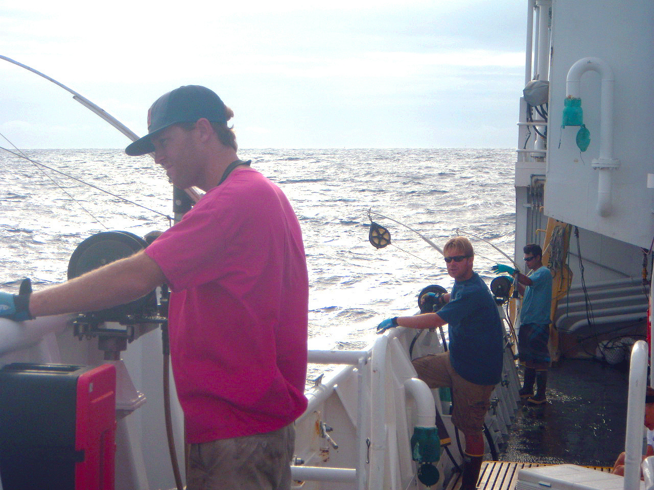 Bottomfish sampling from the NOAA Ship Sette.
