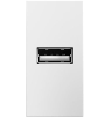 adorne White Half Size USB Outlet