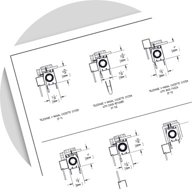 icon of Legrand technical drawing