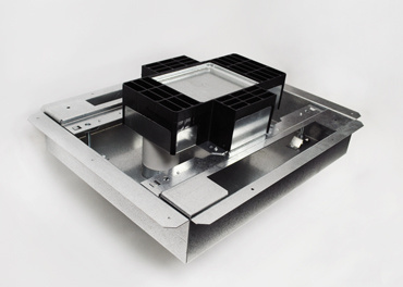 RFB4S-FC 4-gang recessed floor box isometric view
