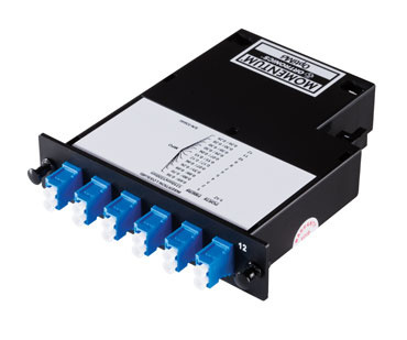 Momentum 2 Cassette, single-mode fiber, 1U, 12 fibers, LC duplex connectors, OR-M2LCD12-09