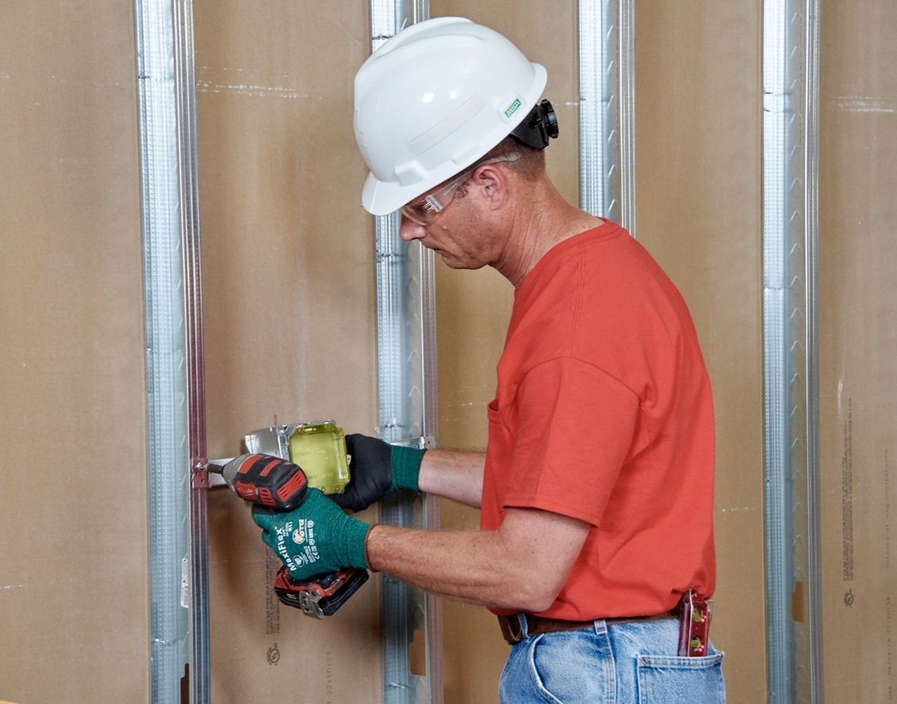 Electrical contractor installing product