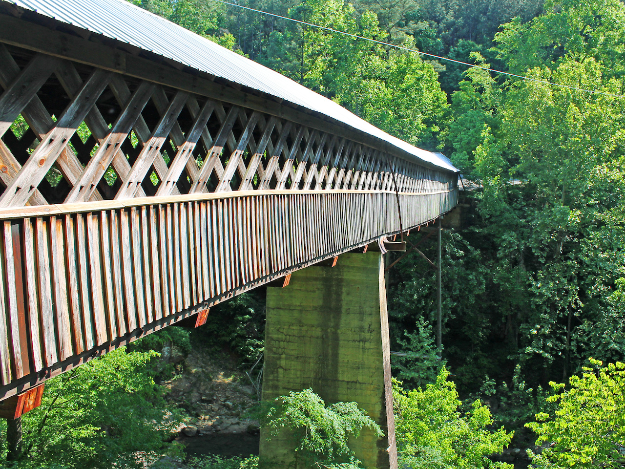 Horton Mill Bridge is the highest covered bridge above any U.S. waterway.