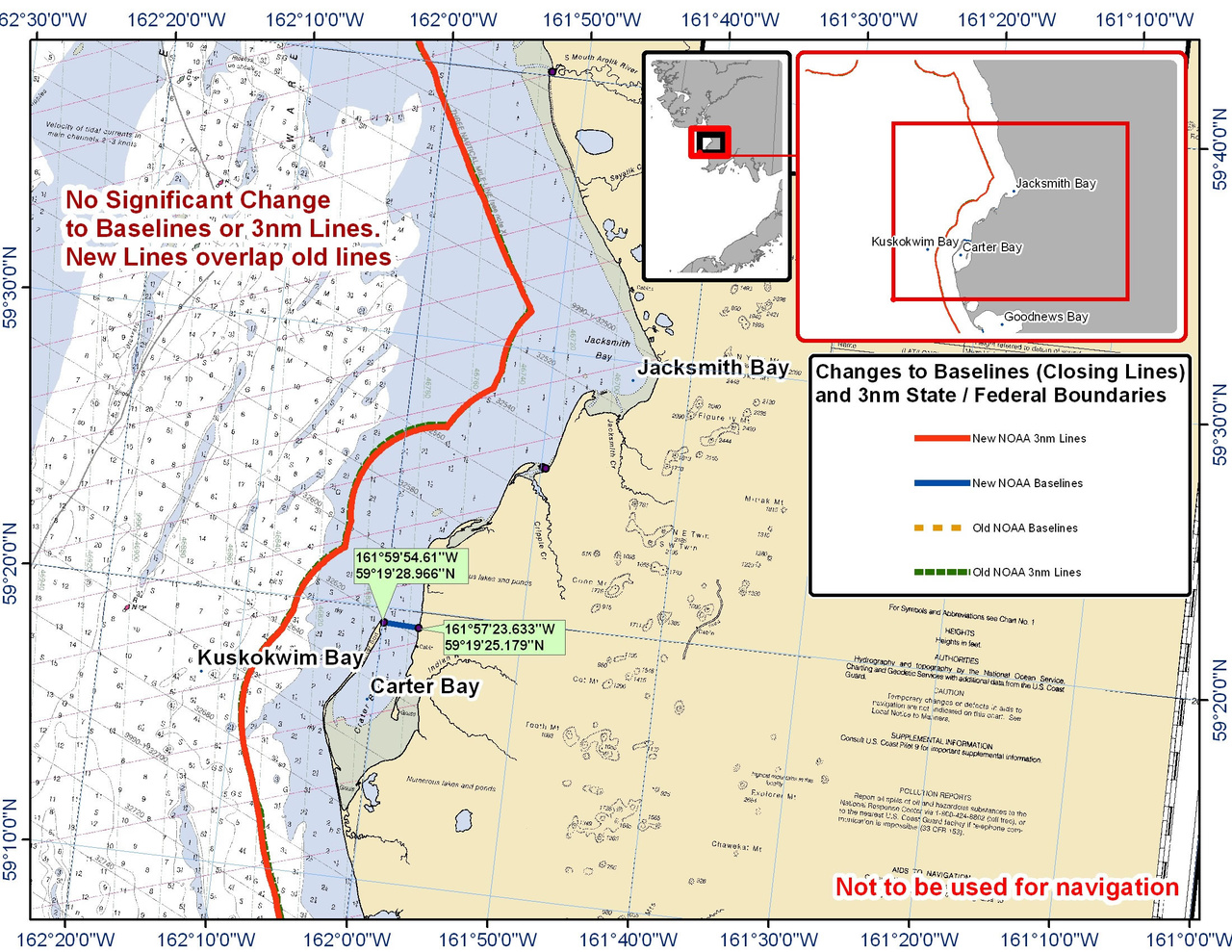 Chart for Carter Bay and the Surrounding Area