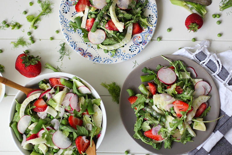 Use season produce to make a fresh salad