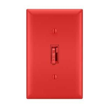 Toggle Slide Dimmer Magnetic Low Voltage, Single Pole / 3-Way 700VA, Red