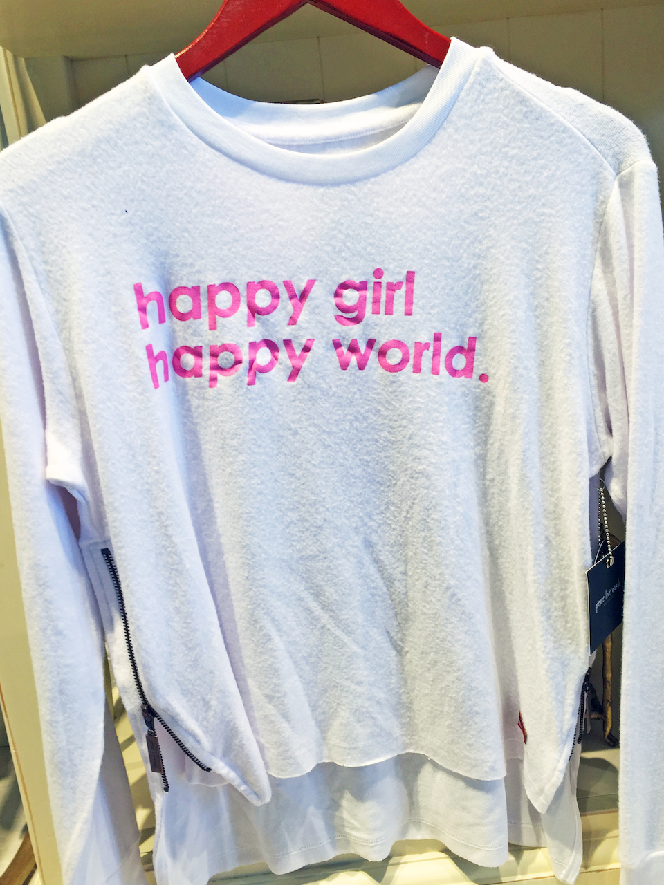 styleblueprint atlanta september finds happy girl sweatshirt
