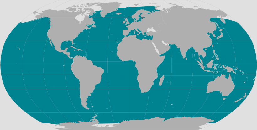 Sperm whale range map