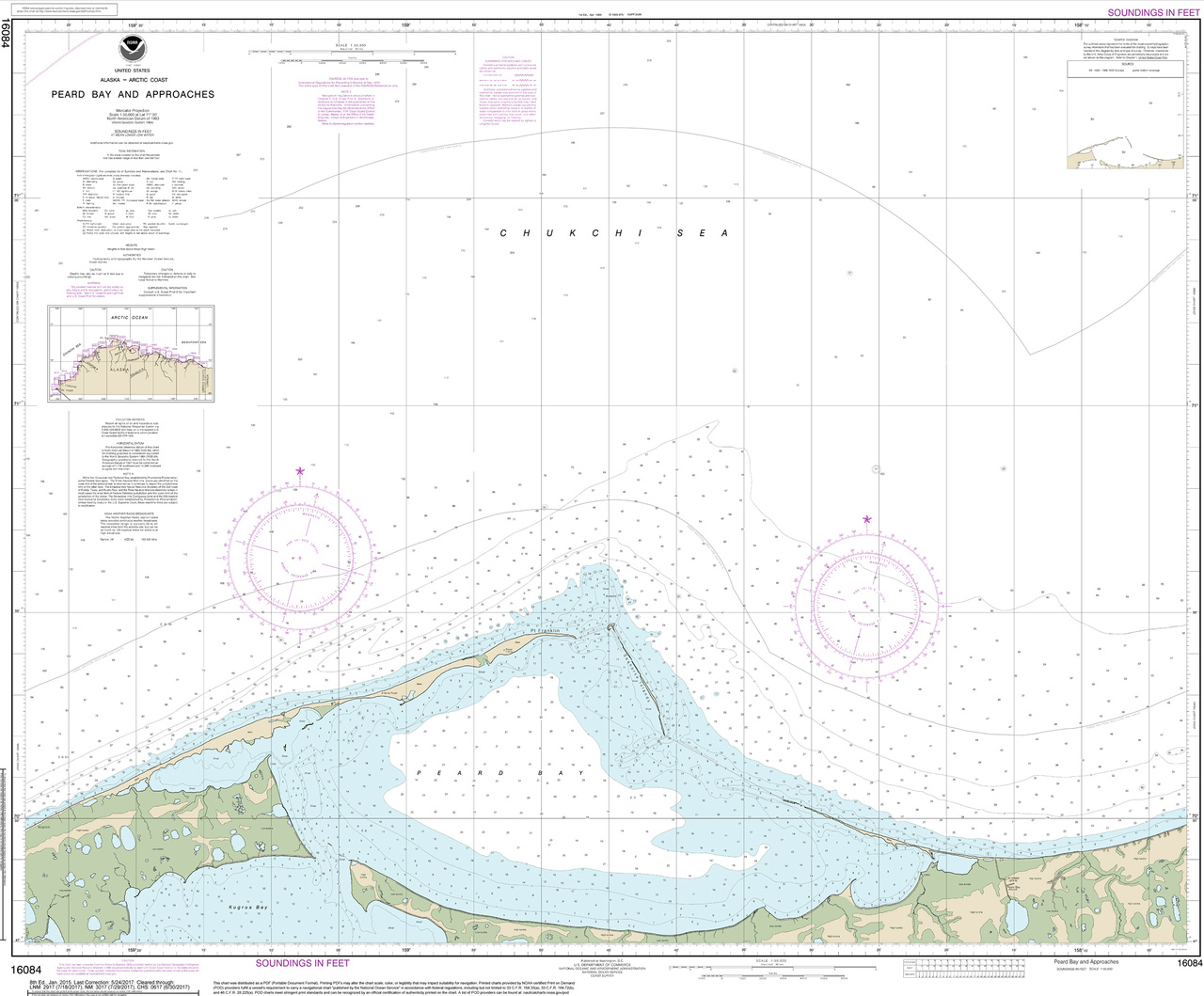 Nautical chart of Peard Bay, Alaska.