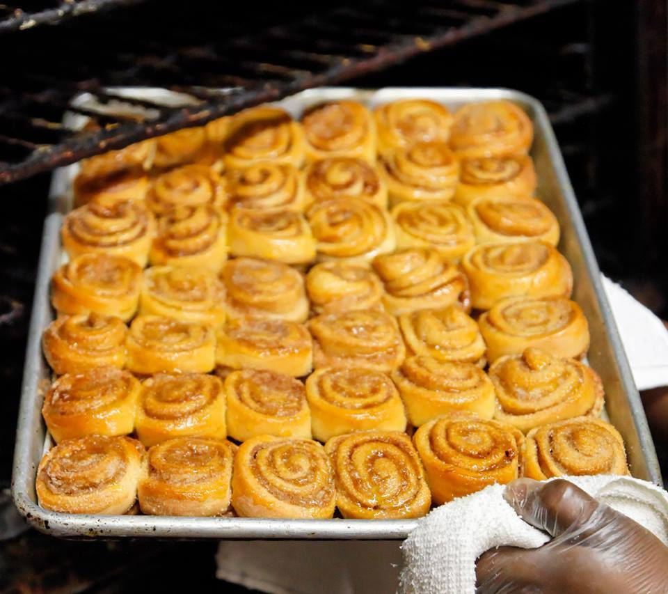 Looks like there are just enough cinnamon rolls to keep me happy! Image: Mary Mac's Tea Room