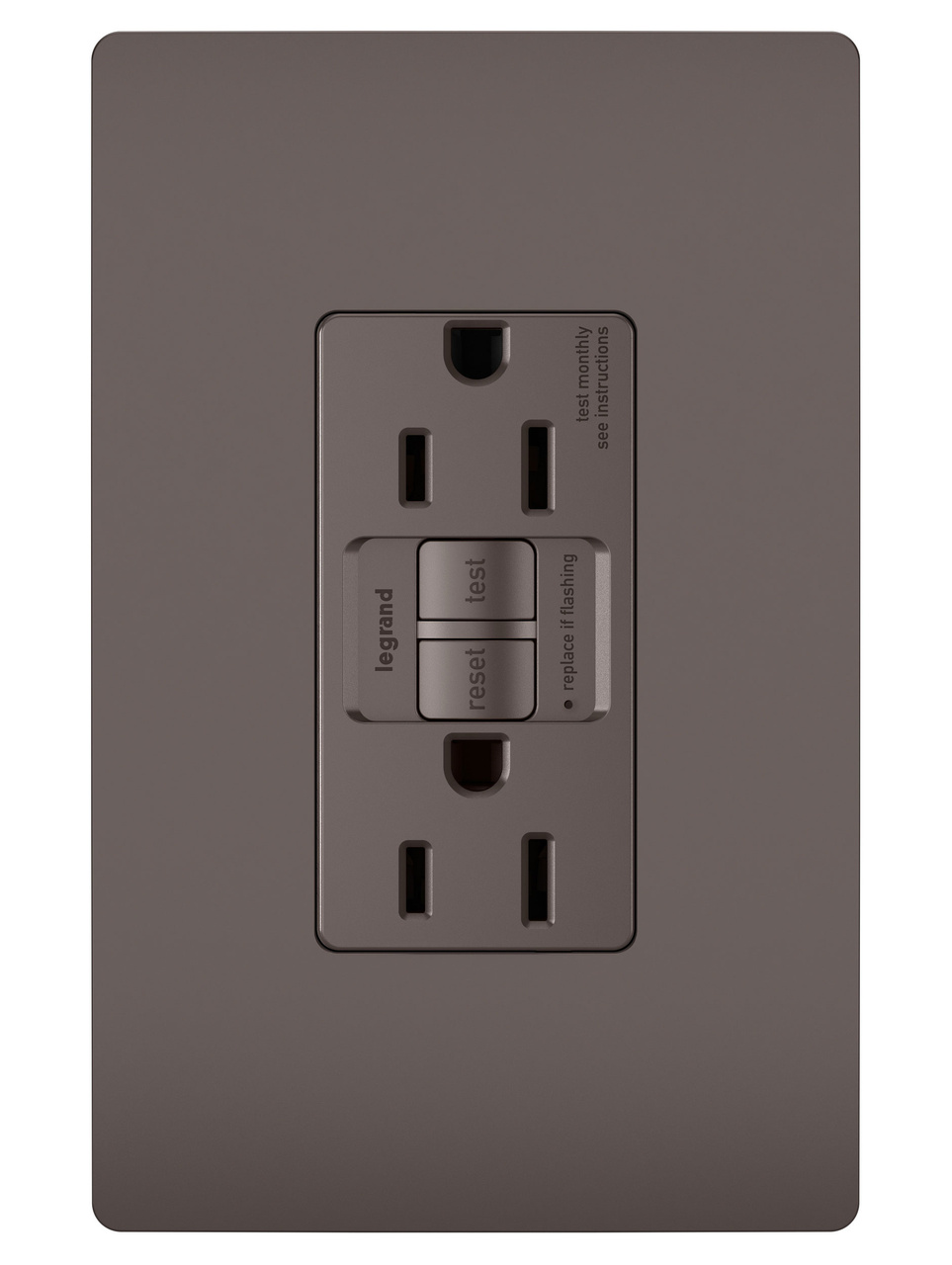 Spec-Grade 15A Self-Test Duplex GFCI, Brown