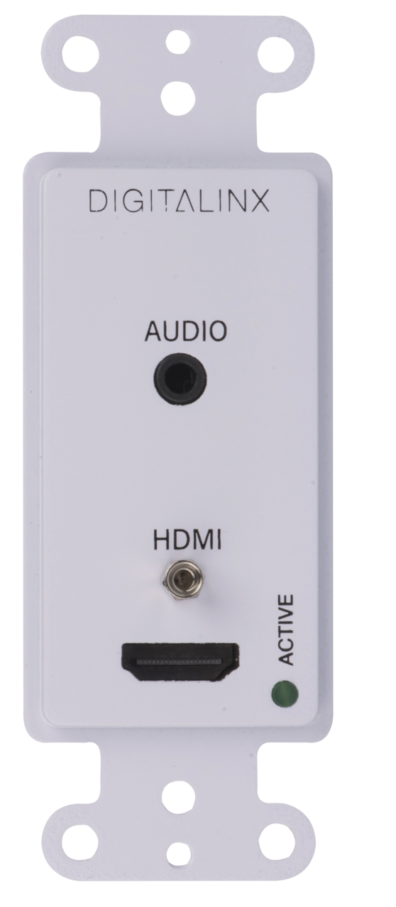 DL-1H1A-WPKT-W - Wall Plate Single Decora HDMI & 3.5mm Audio over HDBaseT with Matching Box Style Receiver Included