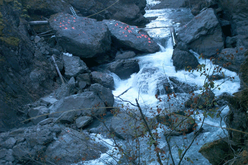 Boulders in the Elwha River