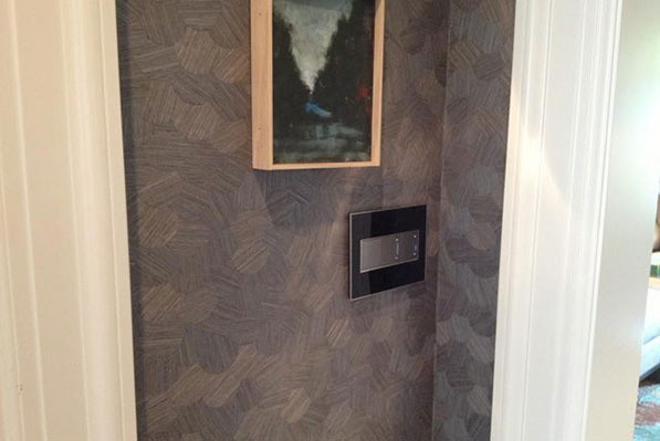 adorne 3-Gang Mirror Black Wall Plate with Magnesium Dimmers