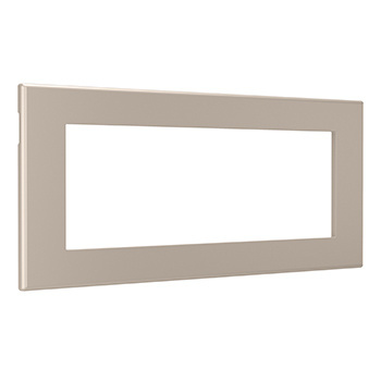 Furniture Power Replacement Bezel For 2-Outlet Unit - Nickel