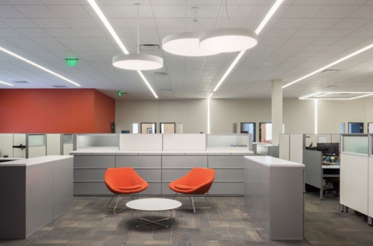 Commercial office architectural lighting