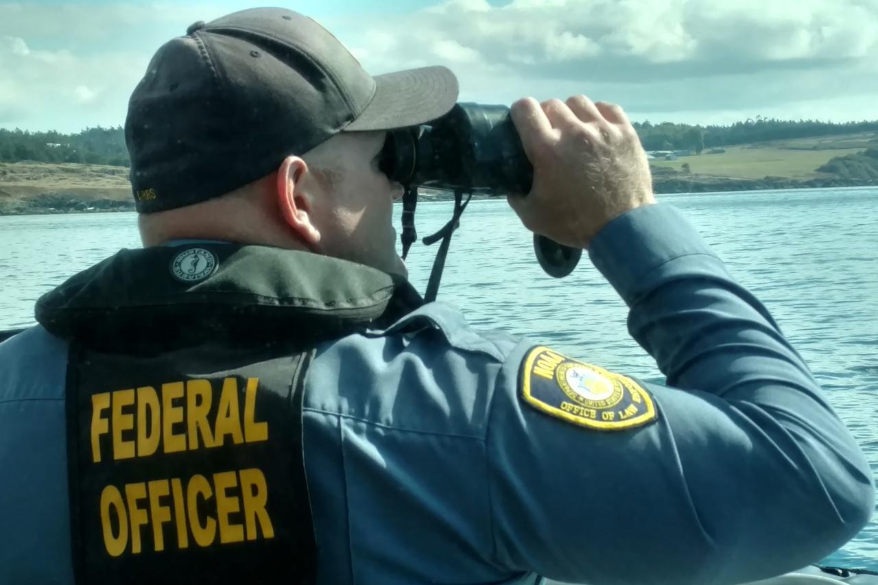 NOAA Enforcement officer on the job