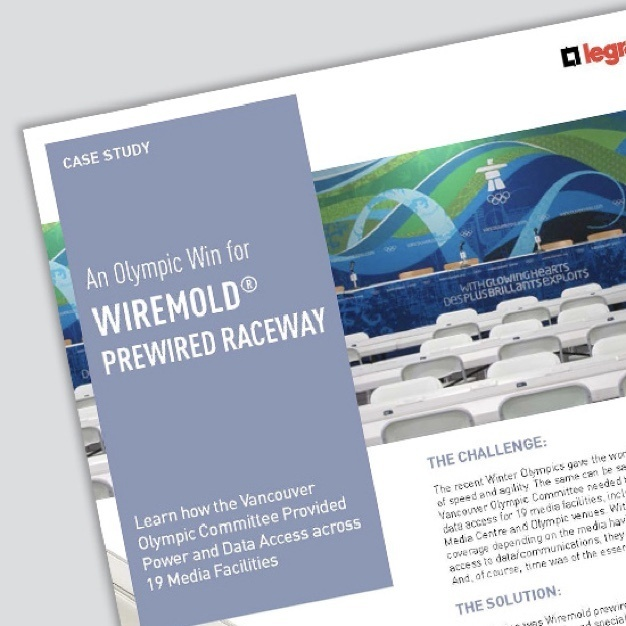 Image of first page of case study on Wiremold prewired raceway
