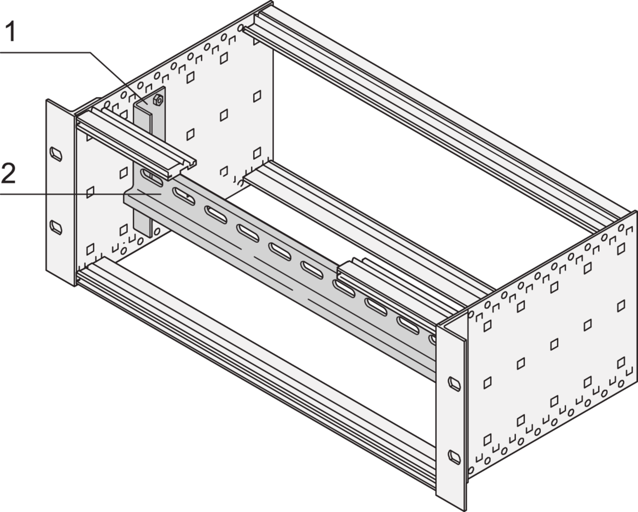 Image for Support rail to DIN 43880 (EuropacPRO) from nVent SCHROFF | Europe, Middle East, Africa and India