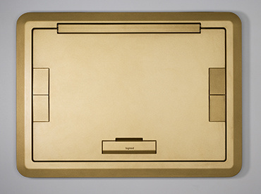 Evolution Surface Style Cover w/Solid Lid-Brass, EFB610BCTBS