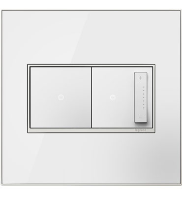 adorne 2-Gang Mirror White Wall Plate