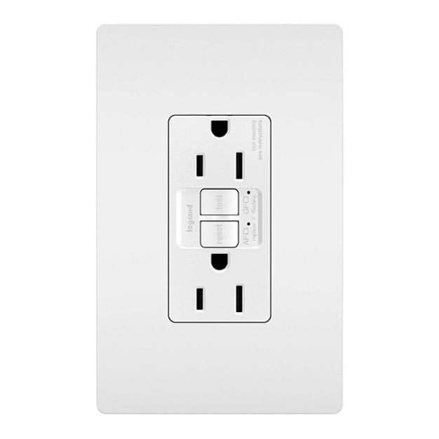 white radiant USB outlet and wall plate