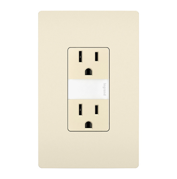 ivory radiant outlet with light