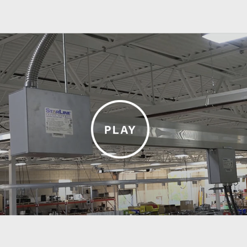 Freeze frame of video showing how Winar Connection uses the T3 series in their facility