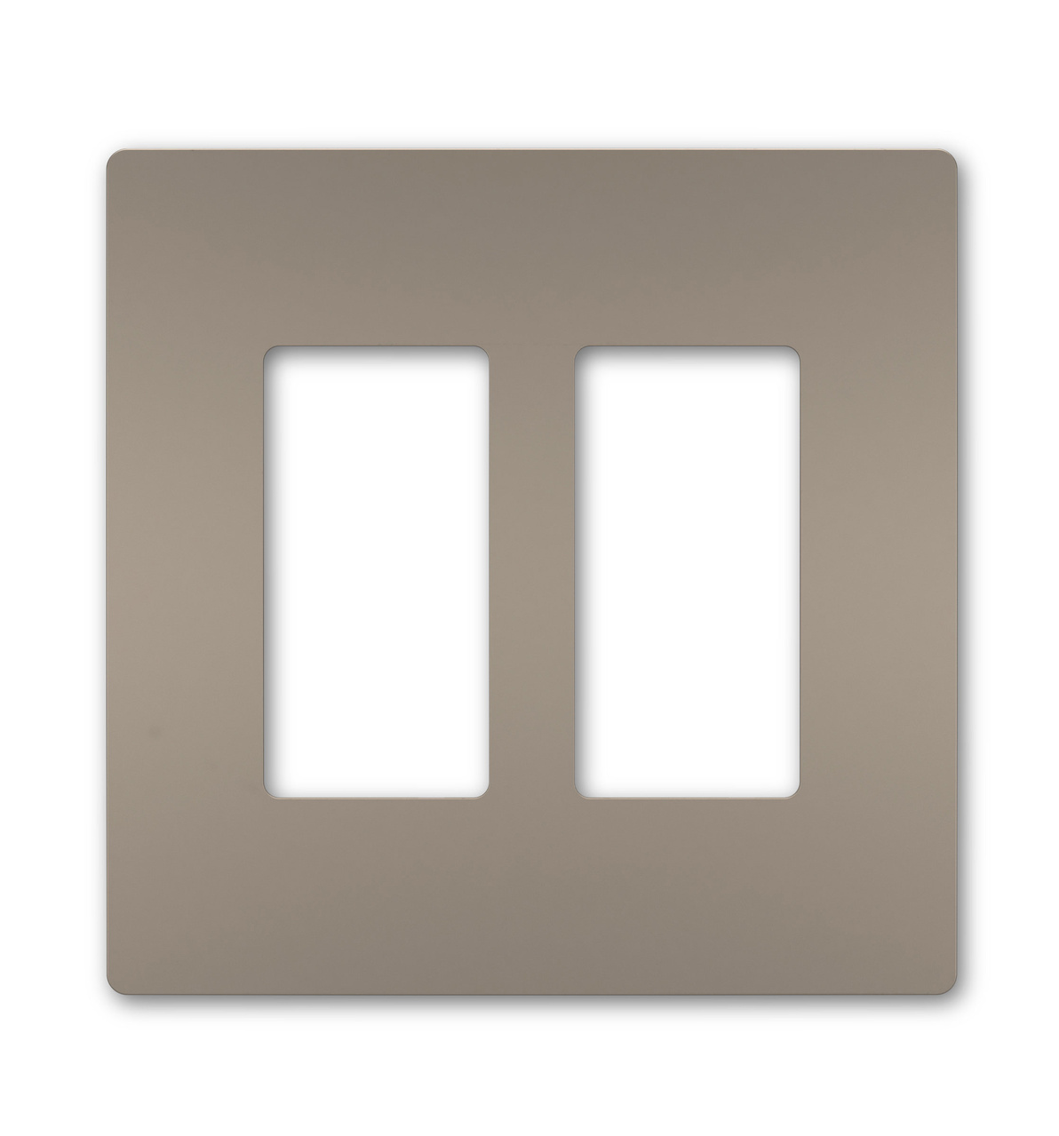 Radiant one gang screwless wall plate nickel legrand rwp262niwhitebkgd two gang screwless wall plate aloadofball Image collections