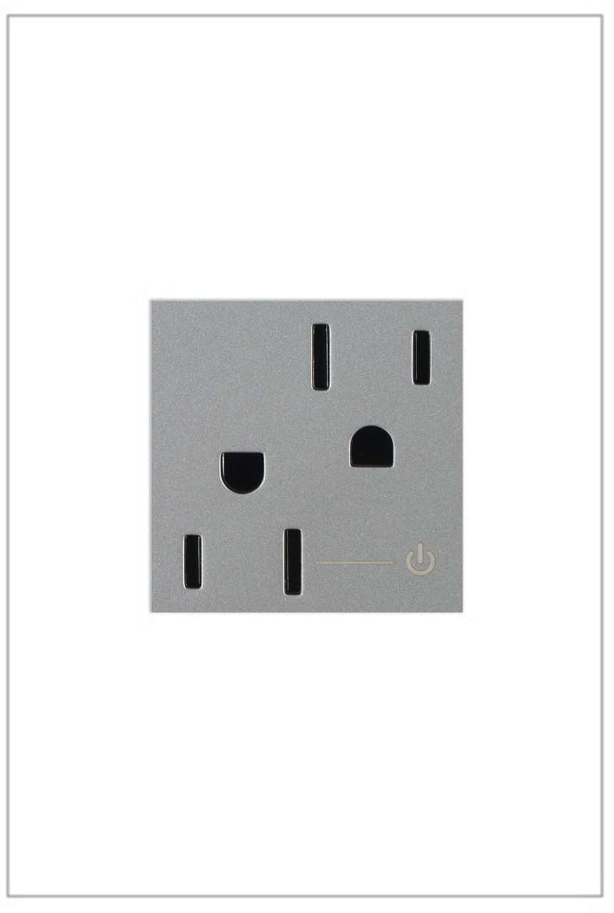 Half Controlled Outlet, 15A, Magnesium