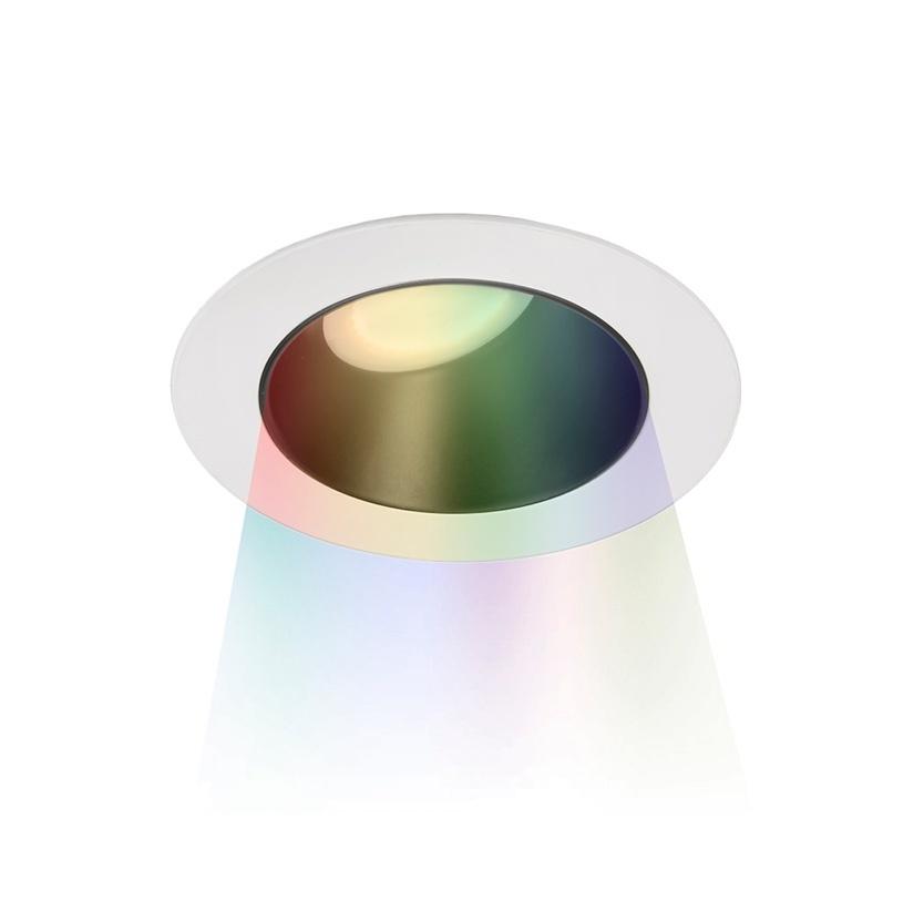 Light fixture with multi-color light