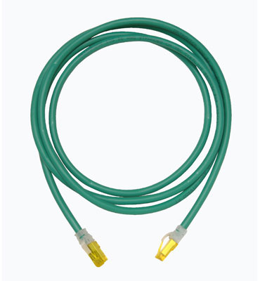Clarity 10G modular patch cord, green