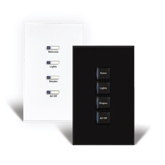 white and black control panels