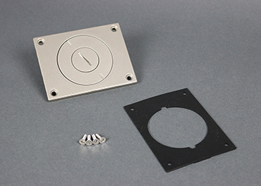 Powder-Coated Alum. Cover Plate, 829CKAL-3/4NK