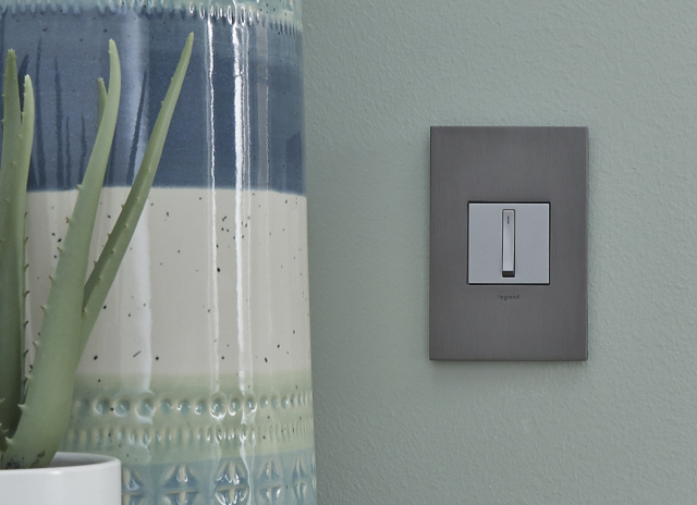adorne switch and wall plate in beach house
