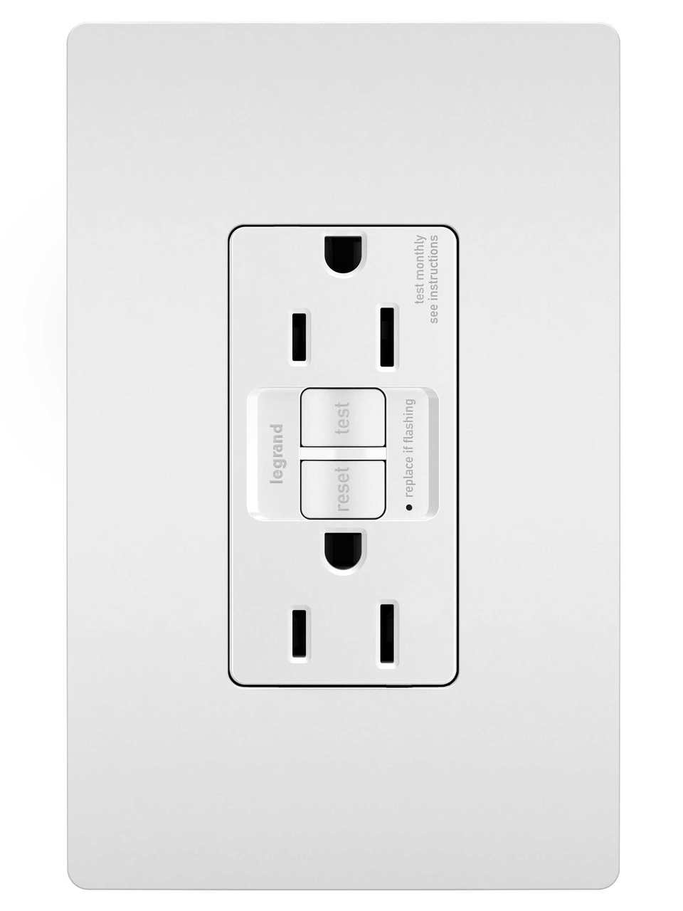 Outlets By Legrand How To Add Gfci A Box With One Outlet Controlled Switch Spec Grade 15a Self Test Duplex White