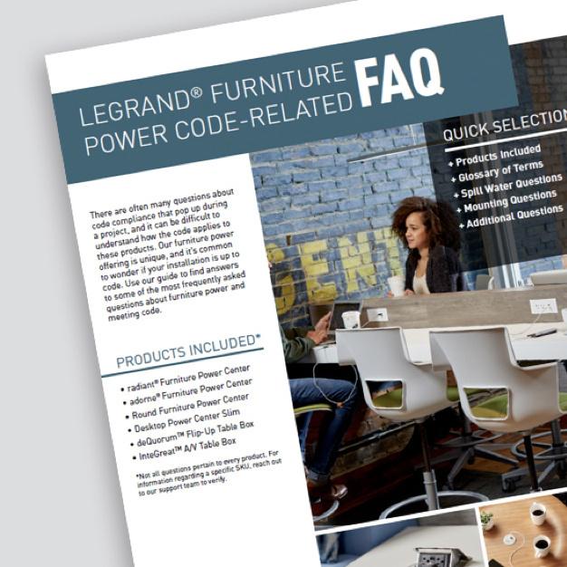 Legrand Furniture Power Code-Related FAQ