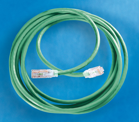 Clarity 5E Modular Patch Cord, 7', green, OR-MC5E07-05