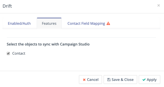 Campaign Studio Drift features page