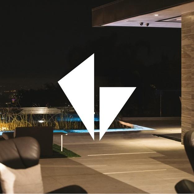 Vantage Logo in outdoor living area