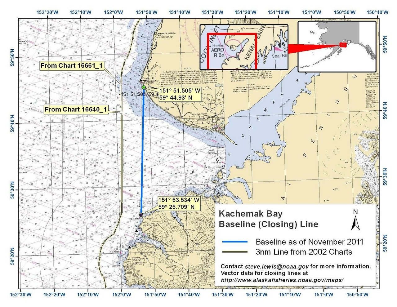 Chart for Kachemak Bay