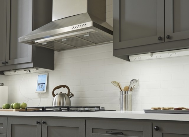 Mobile image of adorne Under-Cabinet Lighting in kitchen with modern kitchen