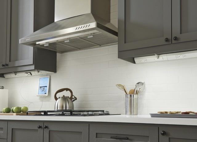 Mobile image of adorne Under-Cabinet Lighting in kitchen with modern kitchen