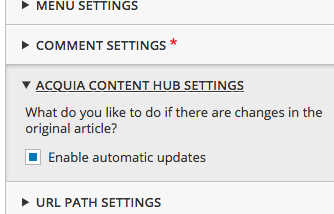 Updates are enabled on this entity