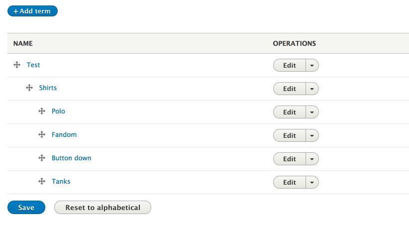 Drupal taxonomy terms
