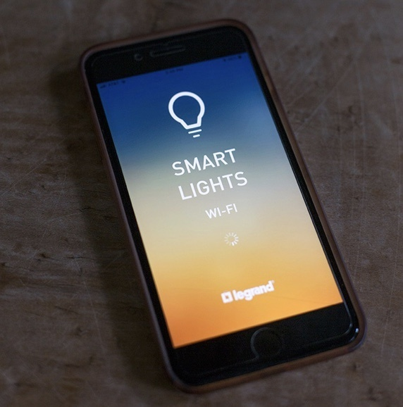 Legrand Smart Lights app on smartphone screen