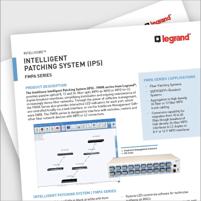 Intelligent Patching Systems (IPS) FMPA Series