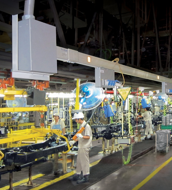 Tablet image of Starline industrial products on automotive factory floor
