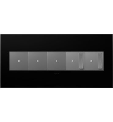 adorne 5-Gang Black Ink Wall Plate
